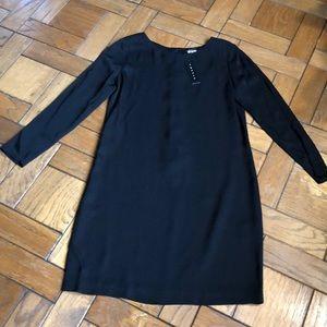 Theory Grainne Black Silk Dress